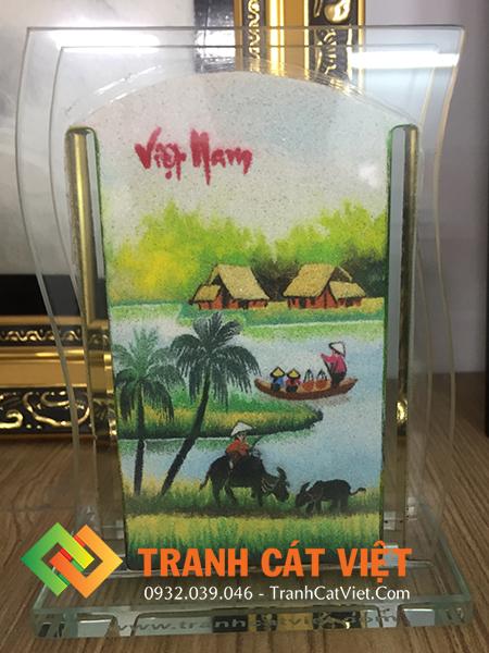 Tranh cát phong cảnh quê hương sông nước Việt Nam