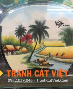 Tranh cát phong cảnh đồng quê đặc trưng Việt Nam