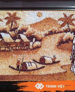 Tranh gạo làng quê - 458