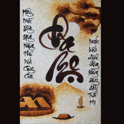 Tranh gạo rang - Nét đẹp bình dị rất Việt Nam 1