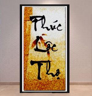 Ý nghĩa của tranh gạo chữ thư pháp phúc lộc thọ 3