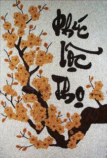 Ý nghĩa của tranh gạo chữ thư pháp phúc lộc thọ 4