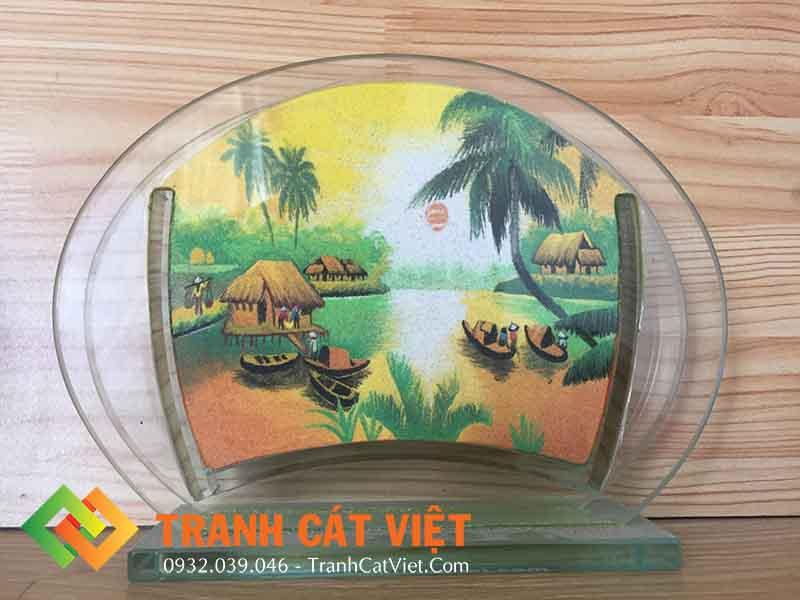 Tranh cát phong cảnh – Oval Mini 016 - Mặt trước