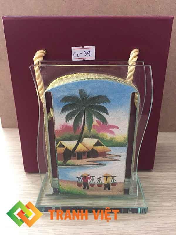 Tranh cát Cong lượn Mini phong cảnh - CL39 mặt sau