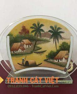Tranh cát phong cảnh – Oval Mini 031