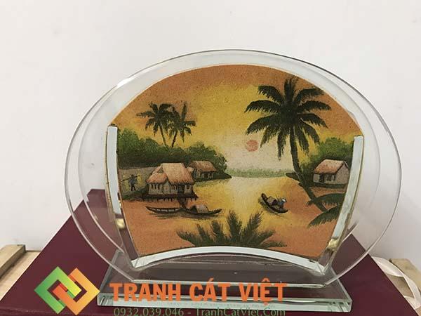 Tranh cát phong cảnh – Oval Mini 032