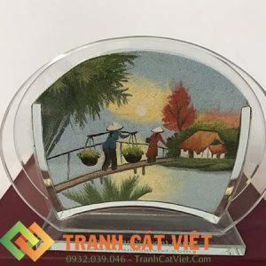 Tranh cát phong cảnh – Oval Mini 035