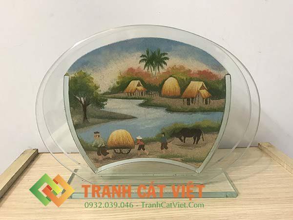Tranh cát phong cảnh – Oval Trung 060