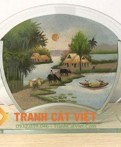Tranh cát phong cảnh – Oval Trung 061